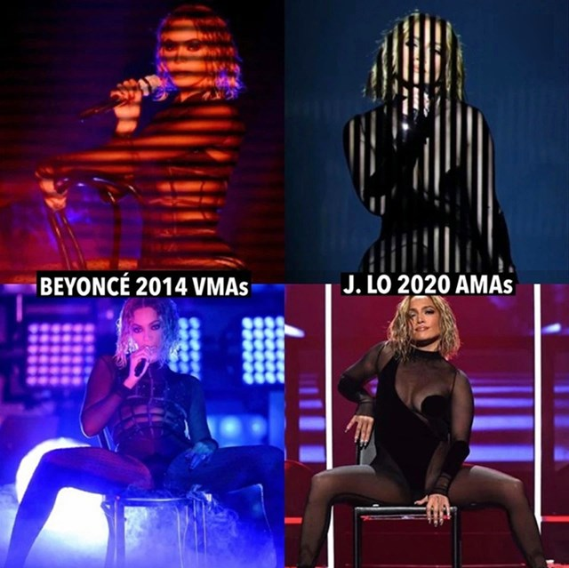 Những lần Jennifer Lopez và Beyonce mặc giống nhau - Ảnh 1