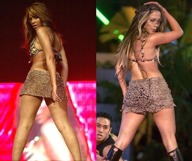 Những lần Jennifer Lopez và Beyonce mặc giống nhau - Ảnh 3