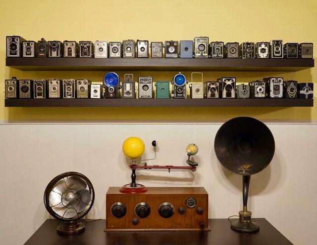 Bộ sưu tập máy ảnh cổ điển.