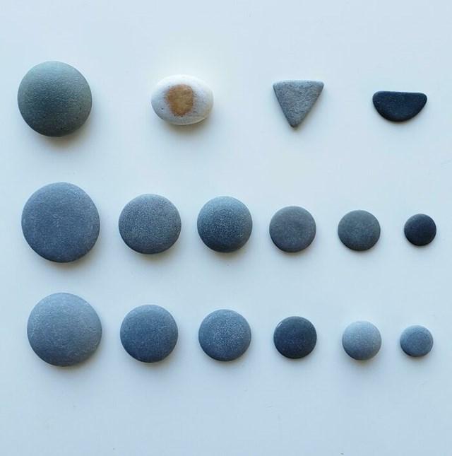 Những tảng đá hoàn hảo được tìm thấy trên bãi biển.