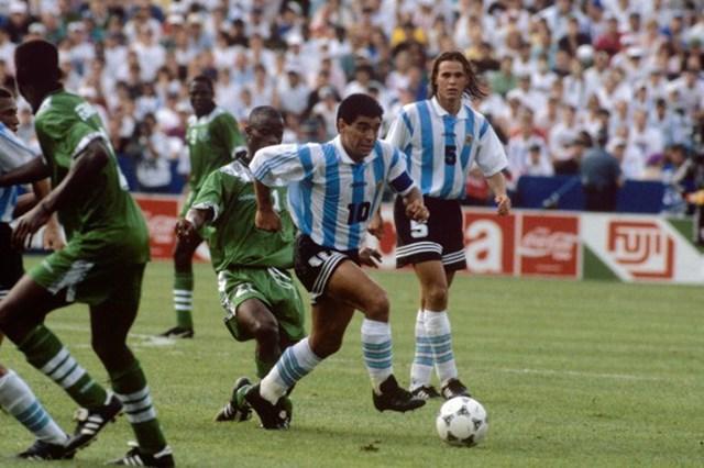 Trận gặpNigeria ở vòng bảng là lần cuối cùng Maradona khoác áo đội tuyểnArgentina.