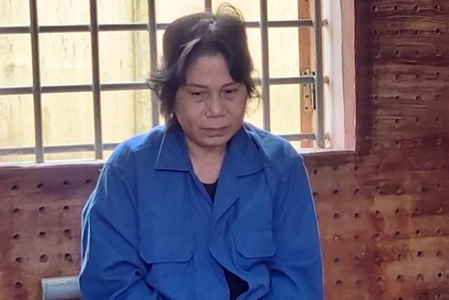Bị can Võ Thị Kim Chi tại cơ quan điều tra.