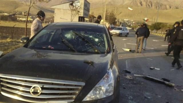 Hiện trường vụ ám sát nhà khoa học hạt nhân Iran. Ảnh: NBC News.