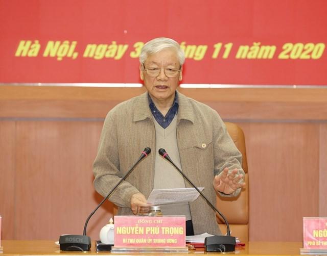 Tổng Bí thư, Chủ tịch nước Nguyễn Phú Trọng phát biểu chỉ đạo Hội nghị. Ảnh: TTXVN.