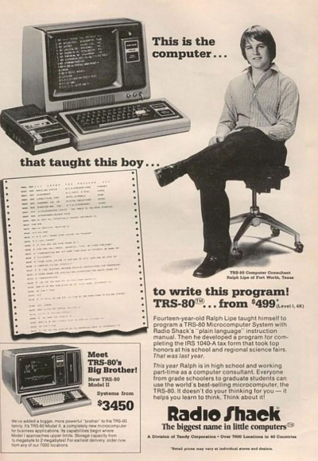 Máy tính Trs-80 được bán vào năm 1977: 3,450 USD.