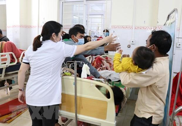 Đa số nạn nhân bị ngộ độc thực phẩm là trẻ em của hai xã Ia Le và Ia Phang, huyện Chư Pưh. Ảnh: TTXVN.