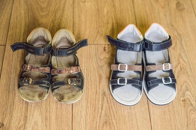 Tẩy trắng giày bằng các nguyên liệu có sẵn trong nhà - Ảnh 5