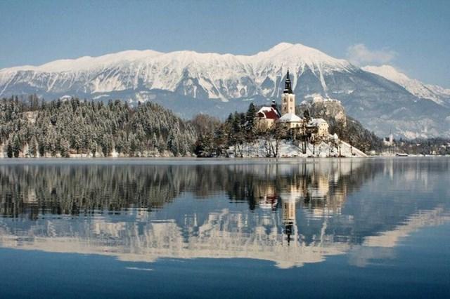 Hồ Bled, Slovenia.