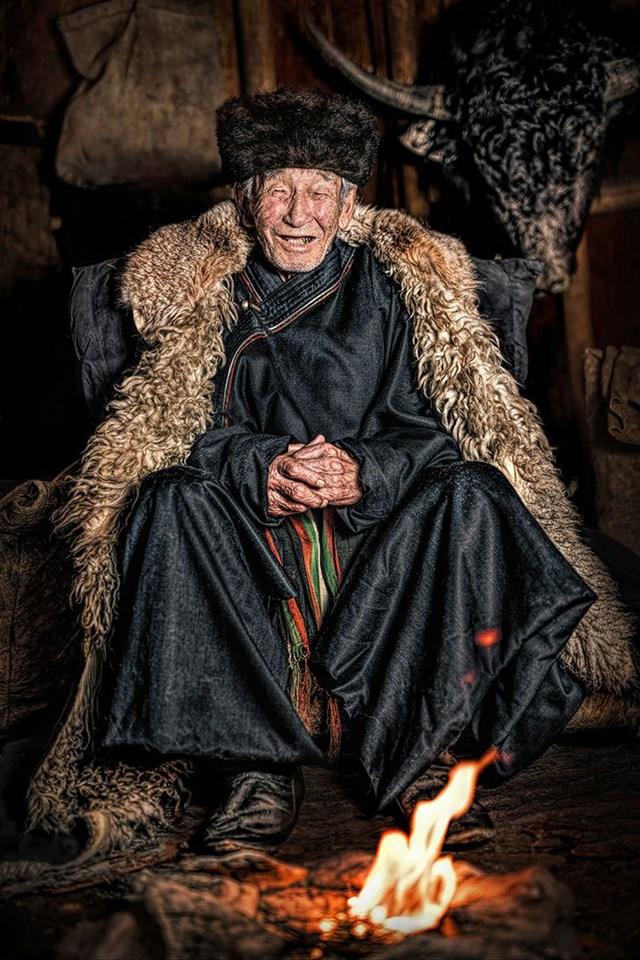 Một trong những trưởng lão cuối cùng của người bản địa Soyot.