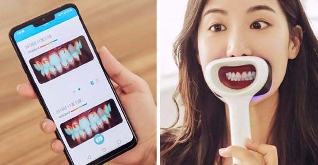 Vật dụng này có thể giúp bạn làm sạch răng khi không có gương.