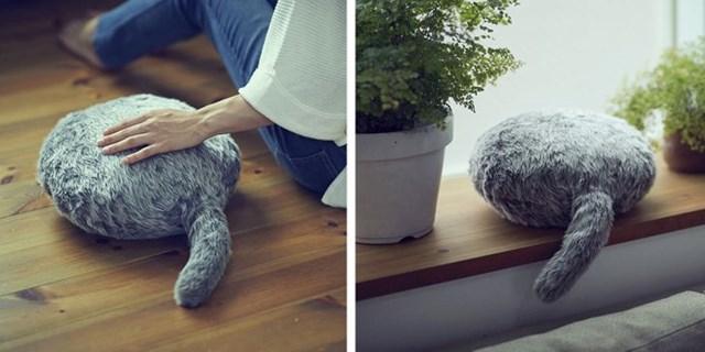 Qoobo, chú mèo robot không đầu và thú cưng mới được yêu thích của Nhật Bản.