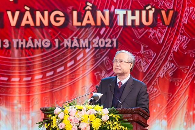 Thường trực Ban Bí thư Trần Quốc Vượng phát biểu tại lễ trao giải- Ảnh: Quang Vinh