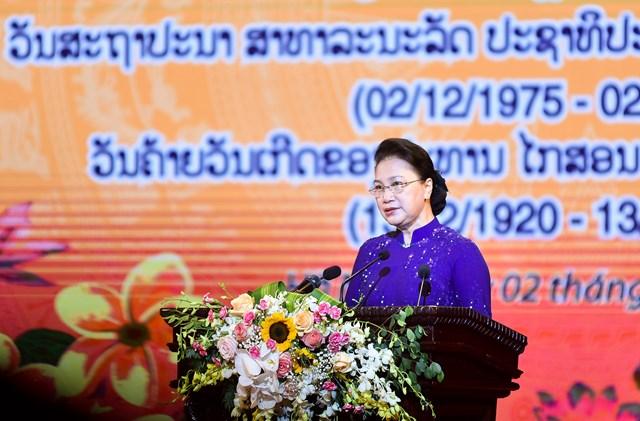Chủ tịch Quốc hội Nguyễn Thị Kim Ngân đọc diễn văn tại Lễ kỷ niệm