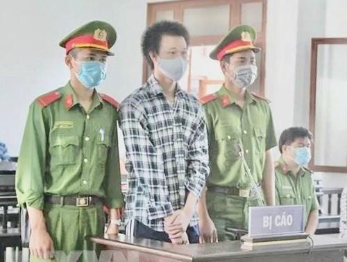 Bị cáo Phạm Kim Phê tại Tòa án nhân dân tỉnh Phú Yên