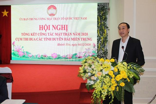 Phó Chủ tịch Phùng Khánh Tài phát biểu tại Hội nghị.