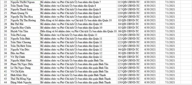 TP Hồ Chí Minh bổ nhiệm lãnh đạo 16 quận  - Ảnh 2