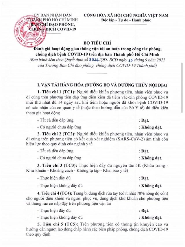 TP Hồ Chí Minh áp dụng 10 tiêu chí vận tải hành khách khi hoạt động trở lại - Ảnh 1