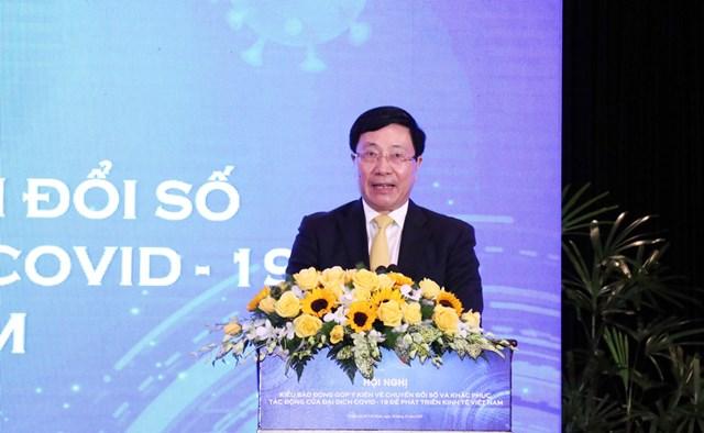 Phó Thủ tướng Phạm Bình Minh phát biểu chỉ đạo tại Hội nghị (Ảnh: Hồng Phúc).