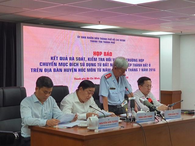 ông Trần Đình Trữ, Phó Chánh Thanh tra TP HCM thông tin kết quả rà soát