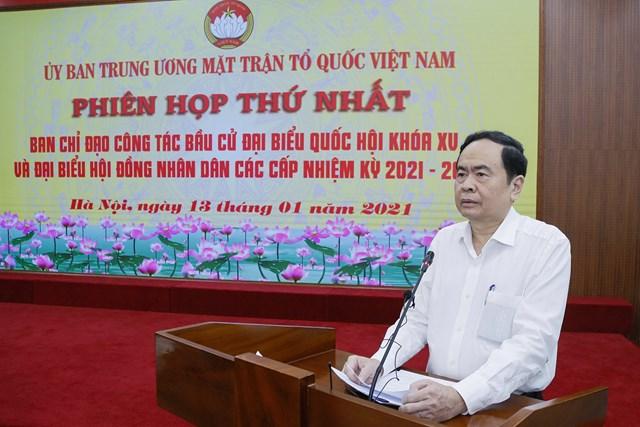 Chủ tịch Trần Thanh Mẫn phát biểu tại phiên họp.