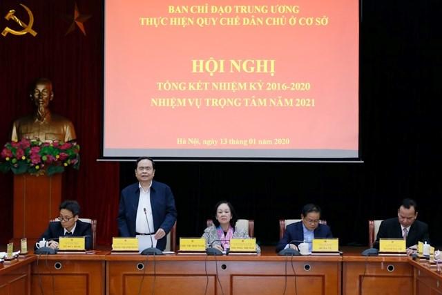Chủ tịch Trần Thanh Mẫn điều hành thảo luận tại Hội nghị.