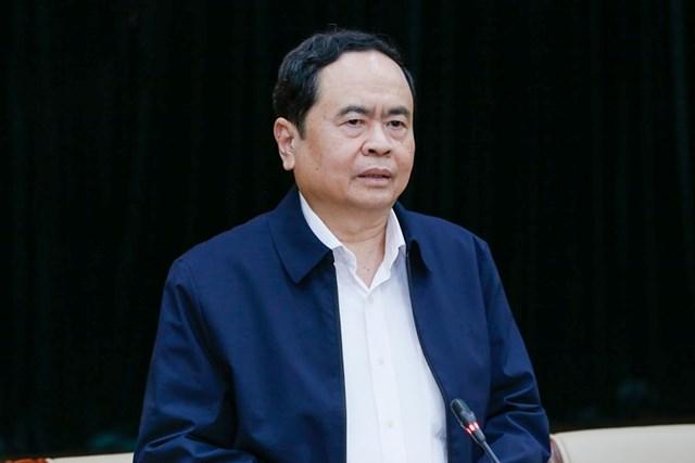 Chủ tịch UBTƯ MTTQ Việt Nam Trần Thanh Mẫn phát biểu tại Hội nghị.