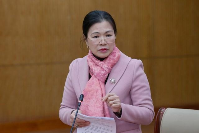 Phó Chủ tịch UBTƯ MTTQ Việt Nam Trương Thị Ngọc Ánh phát biểu tại Hội nghị.