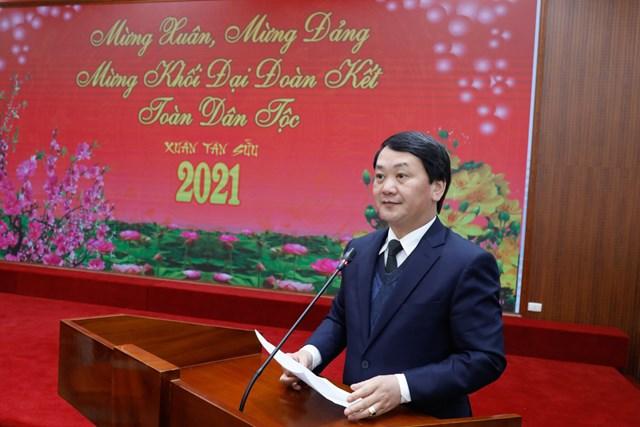 Phó Chủ tịch - Tổng Thư ký UBTƯ MTTQ Việt Nam phát biểu.
