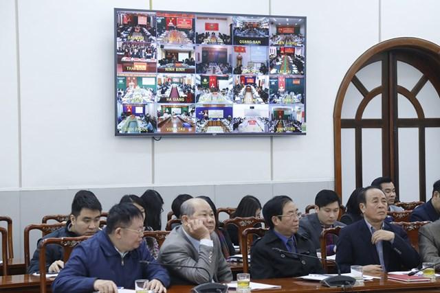 Quang cảnh Hội nghị tập huấn công tác bầu cử.