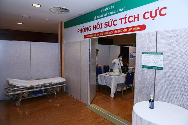 Khai trương Trung tâm Y tế phục vụ Đại hội XIII của Đảng - Ảnh 1