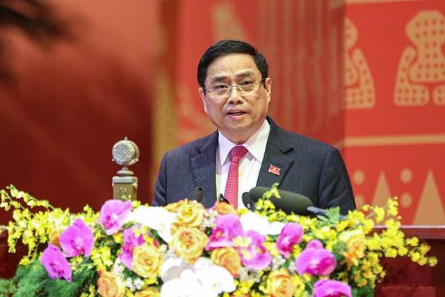 Trưởng ban Tổ chức Trungương Phạm Minh Chính trình bày quy chế làm việc củaĐại hội.
