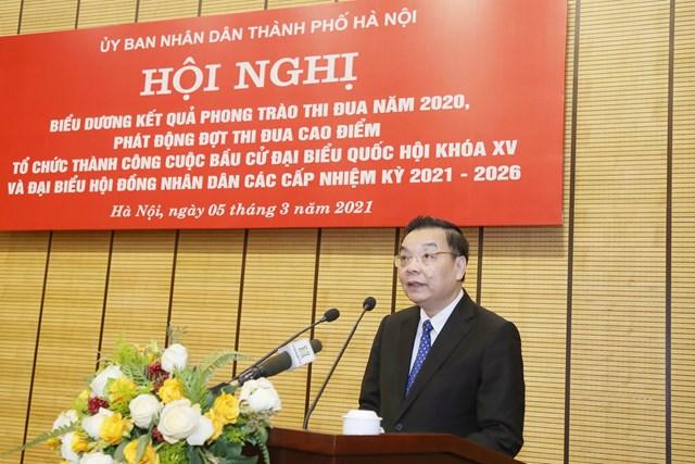 Chủ tịch UBND thành phố Hà Nội Chu Ngọc Anh phát động đợt thi đua cao điểm tổ chức thành công cuộc bầu cử ĐBQH khóa XV và đại biểu HĐND các cấp nhiệm kỳ 2021-2026.