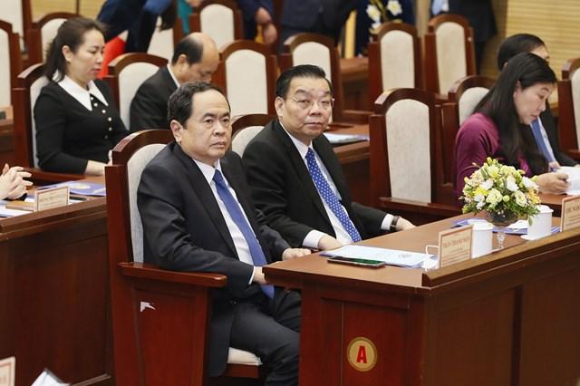 Ủy viên Bộ Chính trị, Chủ tịch UBTƯ MTTQ Việt Nam Trần Thanh Mẫn dự Hội nghị.