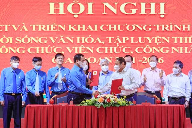 Bộ VHTTDL và Tổng LĐLĐ Việt Nam đã ký kết Chương trình phối hợp giai đoạn 2021-2026.