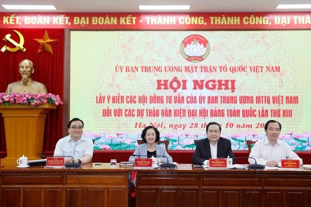 Hội nghị lấyý kiến các Hộiđồng tư vấn của UBTƯ MTTQ Việt Nam.