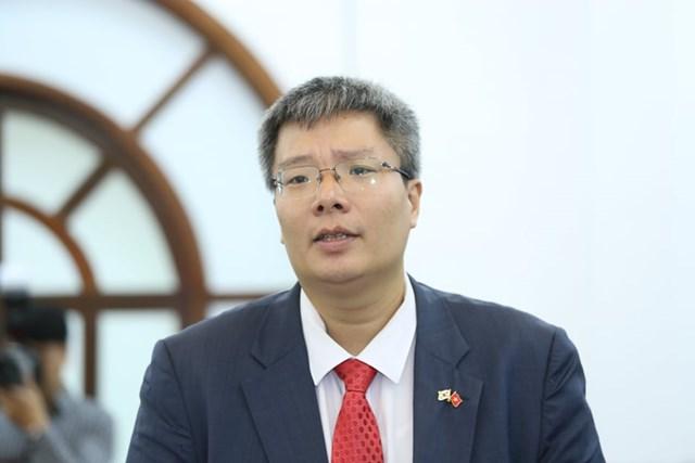 Ông Trần Hải Linh, Ủy viên UBTƯ MTTQ Việt Nam phát biểu tại Hội nghị.