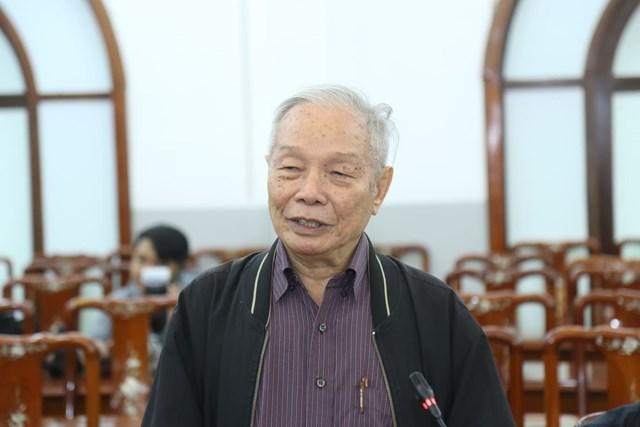 GS Võ Đại Lược, nguyên Viện trưởng Viện Kinh tế thế giới, Viện Hàn lâm Khoa học Xã hội phát biểu tại Hội nghị.