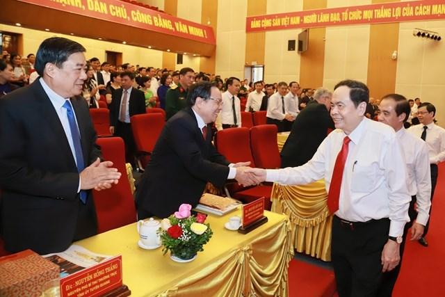 Chủ tịch UBTƯ MTTQ Việt Nam Trần Thanh Mẫn dự Lễ kỷ niệm.