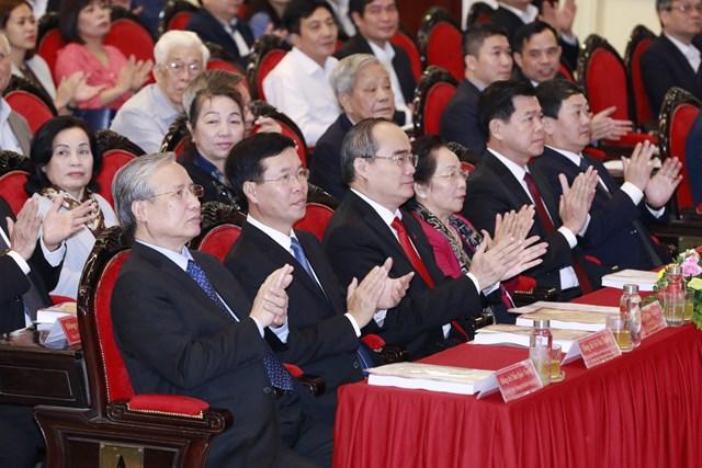 Lãnhđạo, nguyên lãnhđạo Đảng, Nhà nước, MTTQ Việt Nam dự Hội thảo tại điểm cầu Học viện Chính trị quốc gia Hồ Chí Minh.