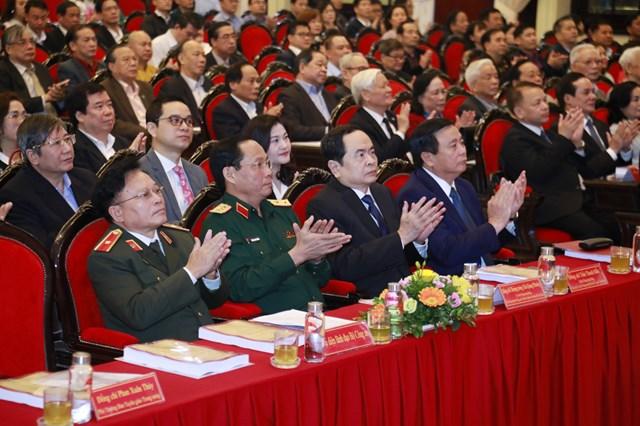 Lãnhđạo, nguyên lãnhđạoĐảng, Nhà nước, MTTQ Việt Nam dự Hội thảotại điểm cầu Học viện Chính trị quốc gia Hồ Chí Minh.