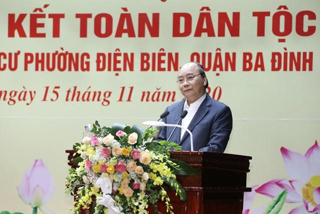 Thủ tướng Nguyễn Xuân Phúc phát biểu tại Ngày hội.