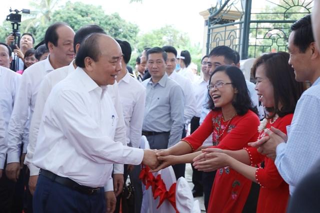 Thủ tướng Nguyễn Xuân Phúc dự Ngày hội Đạiđoàn kết tạithôn Phù Liễn.