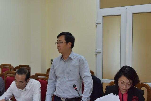 Ông Cao Xuân Thạo - Chánh Văn phòng UBTƯ MTTQ Việt Nam phát biểu tại buổi kiểm tra