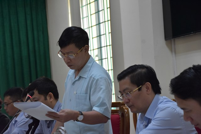 Đại diện Ban Thường trựcỦy ban MTTQ tỉnh Vĩnh Phúc báo cáo kết quả công tác Mặt trận năm 2020