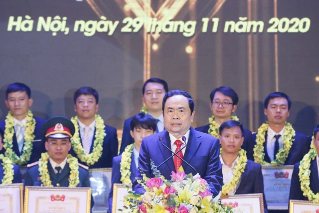 Chủ tịch Trần Thanh Mẫn phát biểu tại buổi lễ.