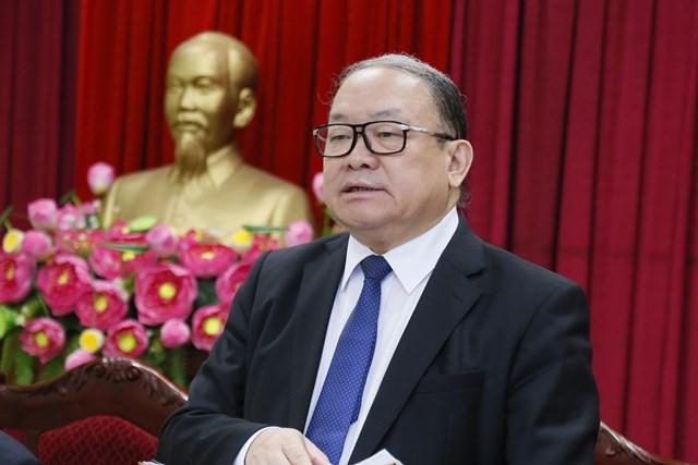 Chủ tịch Hội Nông dân Việt Nam Thào Xuân Sùng phát biểu tại cuộc làm việc.