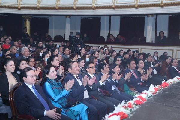 Các đại biểu dự chương trình. Ảnh: Trần Huấn.