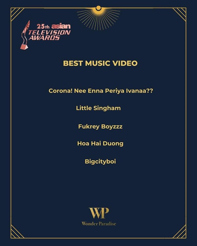 Danh sách đề cử MV.