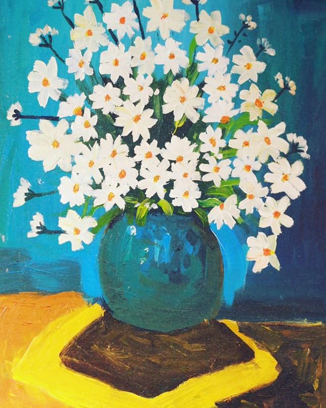 Một tác phẩm tại triển lãm.