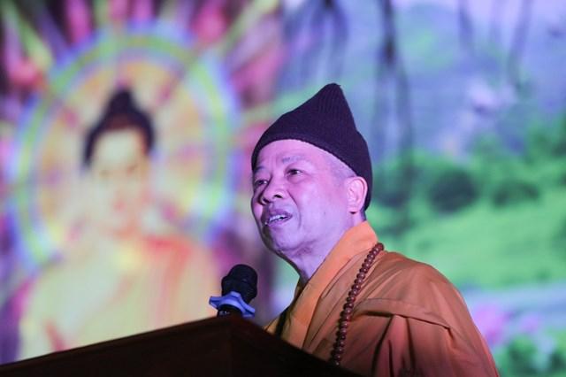 Hoà thượng Thích Thanh Quyết, Viện trưởng HVPGVN tại Hà Nội.